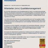 Mitarbeiter (m/w) Qualitätsmanagement