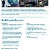 Qualitätstechniker (m/w)