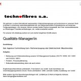 Qualitäts-Manager/in