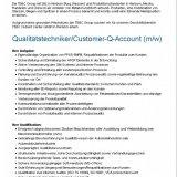 Qualitätstechniker/Customer-Q-Account (m/w)
