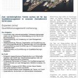 Experte (m/w) Qualitätsmanagement/-sicherung
