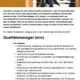 Qualitätsmanager (m/w)