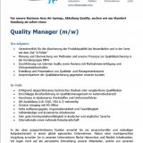 Quality Manager (m/w)