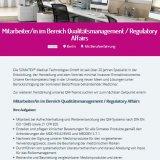Mitarbeiter/in im Bereich Qualitätsmanagement / Regulatory Affairs