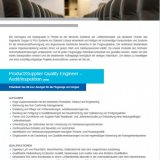 Product/Supplier Quality Engineer – Audit/Inspektion (m/w)