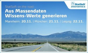 StatSoft on the road: Aus Massendaten Wissens-Werte gnerieren